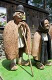Klei oude man en vrouw Royalty-vrije Stock Foto's