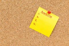 Kleiści puste miejsce notatki postanowienia dla nowego roku Obrazy Stock