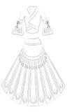 Kleid lizenzfreies stockfoto