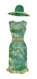 Kleid und Mütze in der Art Retro- Lizenzfreie Stockfotos