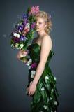 Kleid von den Blumen Stockfotografie