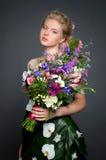 Kleid von den Blumen Stockfoto
