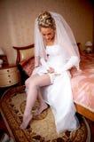 Kleiden für die Hochzeit stockbilder