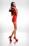 Kleiden Sie oben Rot. stockbilder