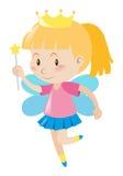 Kleider des kleinen Mädchens in der feenhaften Ausstattung Stockfotos