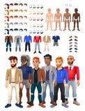 Kleider- und Frisurspiel mit männlichem Avatara vektor abbildung