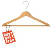 Kleiderbügel- und Verkaufsmarke Lizenzfreies Stockbild