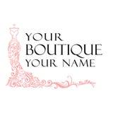 Kleiderboutiquen-Illustrations-Vektor-Logo stock abbildung