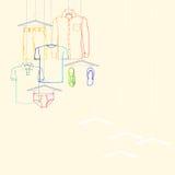 Kleidersommerkollektion Stockfotos