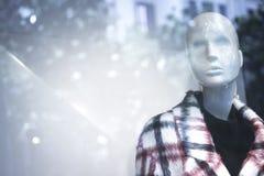 Kleidet blinder Modespeicher des Shops Mannequin Stockfotos