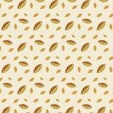 Kleidet die hellorangee Herbstwiederholung des Musterverzierungsjahreszeitblattherbstlaubs, die für Gewebe modern ist, auf einem  vektor abbildung