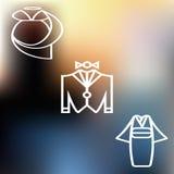 Kleidet Ikone Lizenzfreie Stockfotos