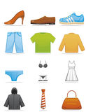 Kleidet Ikonen Lizenzfreie Stockbilder