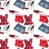 Kleidet nahtloses Muster Stockfotos