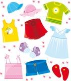 Kleidet Seriensommer Stockbild