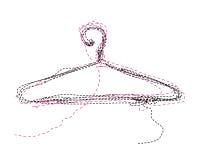 Kleidung-Aufhängung Vektor Abbildung