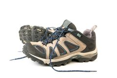 Kleidung, die Matten oder Schuhe wandert Stockbilder