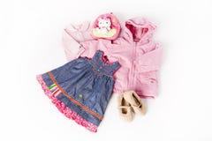 Kleidung für kleines nettes Mädchen Lizenzfreie Stockfotografie