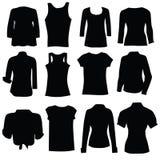 Kleidung für Schattenbild der Frauenschwarzen kunst Lizenzfreies Stockbild
