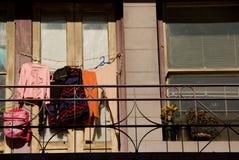 Kleidung-Trocknen Stockbild