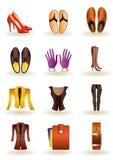 Kleidung und Fußbekleidung des Leders Lizenzfreies Stockfoto
