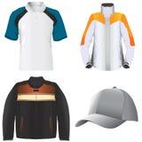 Kleidung und Hutvektor stock abbildung