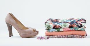 Kleidung und Schuhe Lizenzfreie Stockfotos