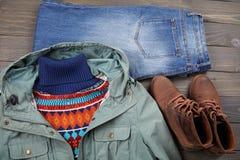 Kleidung und Schuhe Stockfotos