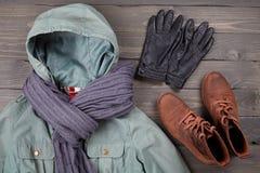 Kleidung und Schuhe Lizenzfreies Stockfoto