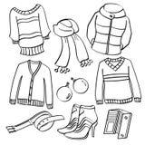Kleidung und Zubehör Stockfotografie