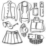 Kleidung und Zubehör Lizenzfreies Stockfoto