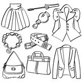 Kleidung und Zubehör Lizenzfreie Stockbilder