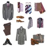 Kleidung und Zubehör der Männer Stockbild