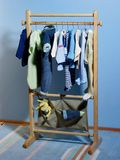 Kleidungaufhängung Lizenzfreie Stockfotografie