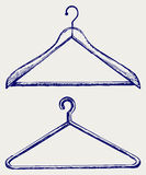 Kleidungaufhängungen stock abbildung