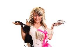 Kleidungbedeutung auf Mädchen Lizenzfreie Stockbilder