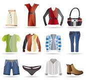 Kleidungs-Ikonen Stockfotografie
