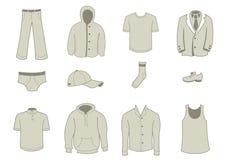 Kleidungs-und Zubehör-Ikonen