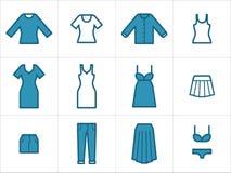 Kleidungsikonen stellten 2 ein Lizenzfreie Stockbilder