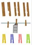 Kleidungsklammer. vektor abbildung