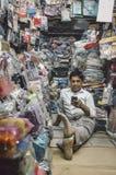 Kleidungsladenbesitzer Stockfotos