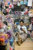 Kleidungsladenbesitzer Stockfotografie