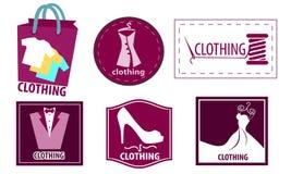 Kleidungsmode-ikonen-Satz Lizenzfreie Stockfotos