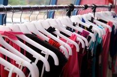 Kleidungzahnstange Stockbild