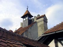 Kleie-Schlossdetail - Rumänien Stockfotos