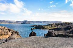Kleifarvatn lake at Reykjanes Peninsula in Iceland Royalty Free Stock Photo