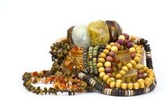 Kleikist met juwelen Royalty-vrije Stock Afbeeldingen