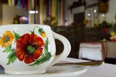 Kleikop met bloemenpatroon Stock Afbeeldingen