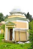 Klein Astronomisch Pulkovo-waarnemingscentrum in St. Petersburg stock afbeelding