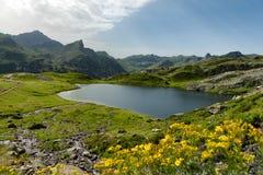 Klein bergmeer in de Franse Pyreneeën Stock Foto's